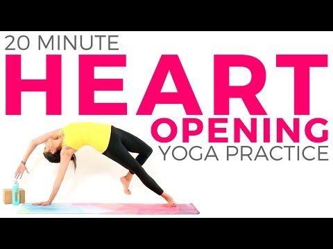 20 minute heart opening yoga practice  intermediate