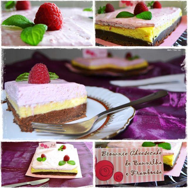 Sweet Gula: Brownie Cheesecake, Vanilla and Raspberry