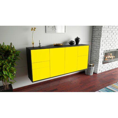 Sideboard Lometa Ebern Designs Farbe Korpus Front Anthrazit