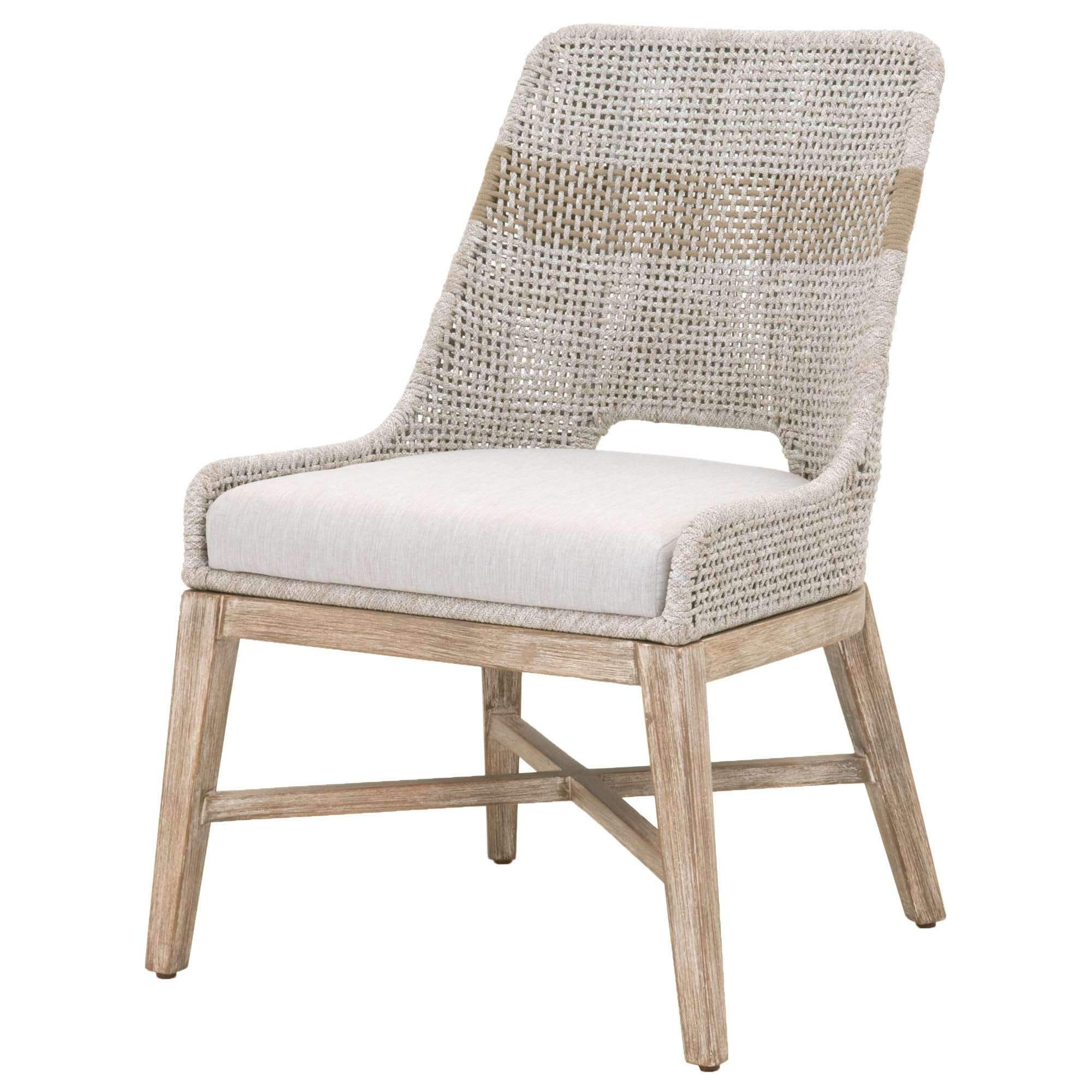 Tapestry Dining Chair Set Of 2 Taupe White Pumice Woven