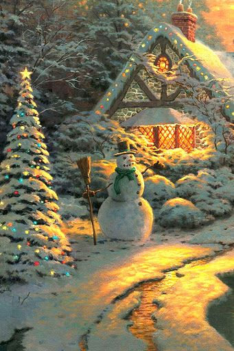 thomas kinkade s christmas at home christmas scenes thomas
