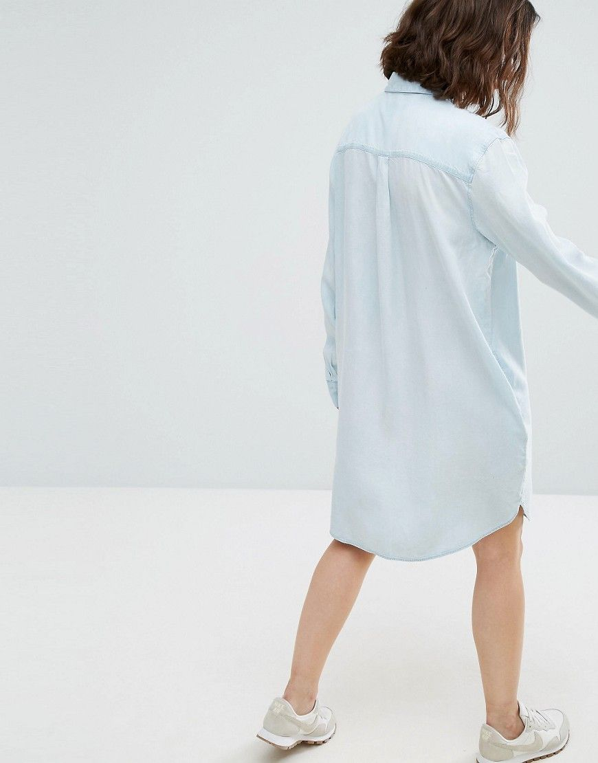 5dc6cb8df75 Weekday Oversized Denim Shirt Dress - Blue