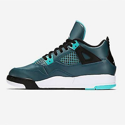 Nike Air Jordan 4 IV Retro Bp PS Little Kids 308499-330 Teal Shoes Youth