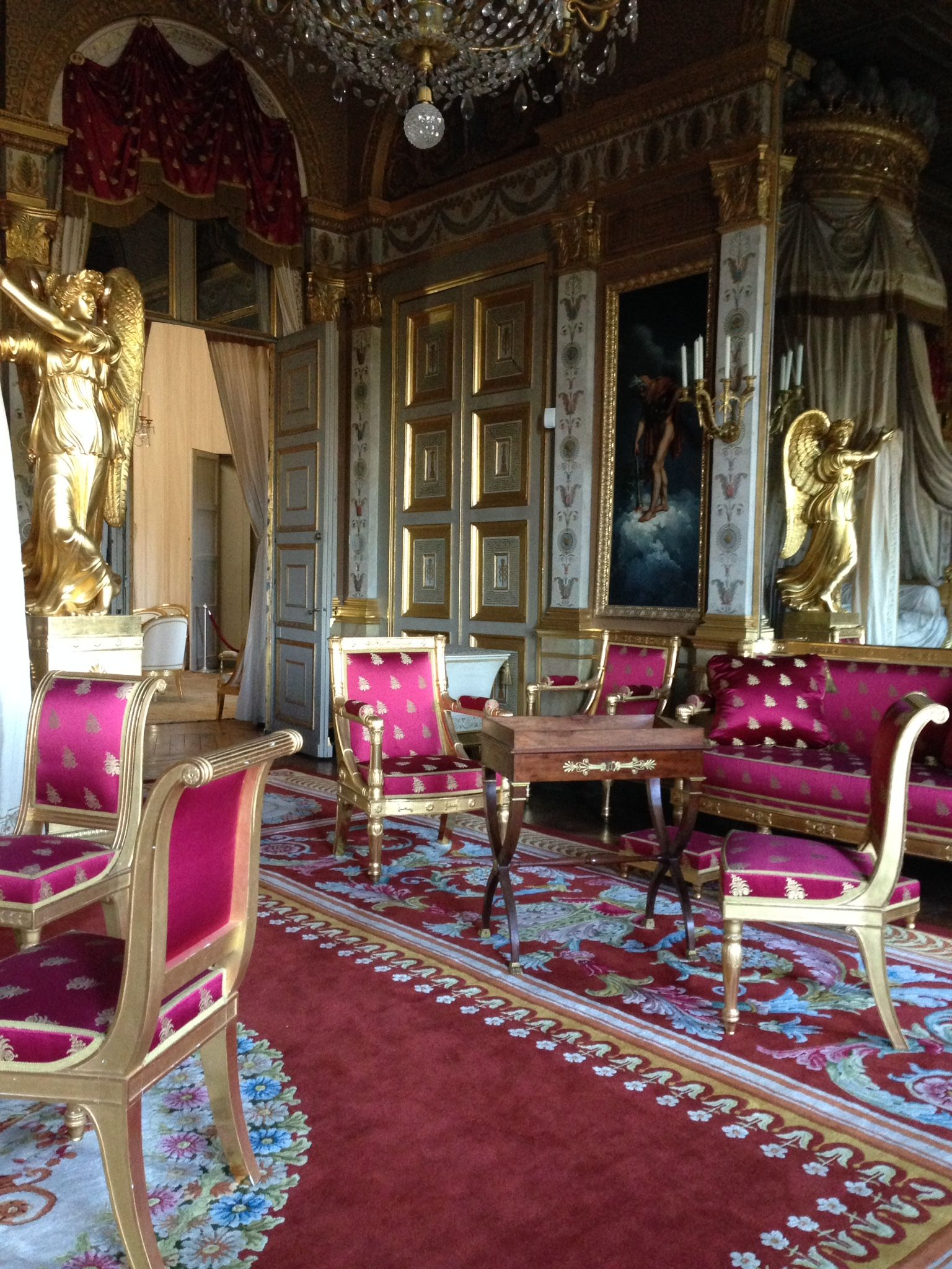 chateau de compiegne interior france only interior design pinterest ch teaux france et. Black Bedroom Furniture Sets. Home Design Ideas