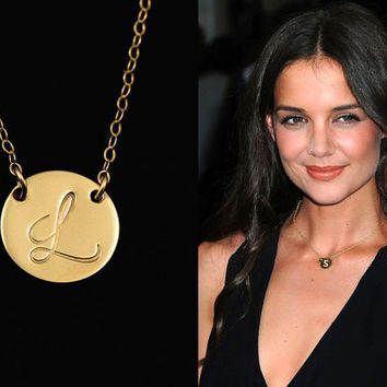 Image Result For Celebrities Wearing Initial Necklaces