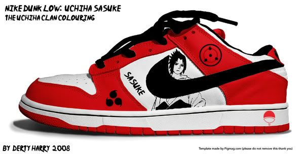 check out 6d3df 4825f Sasuke Uchiha shoes, red | Clothes ♡^▽^♡ | Naruto shoes, Nike ...