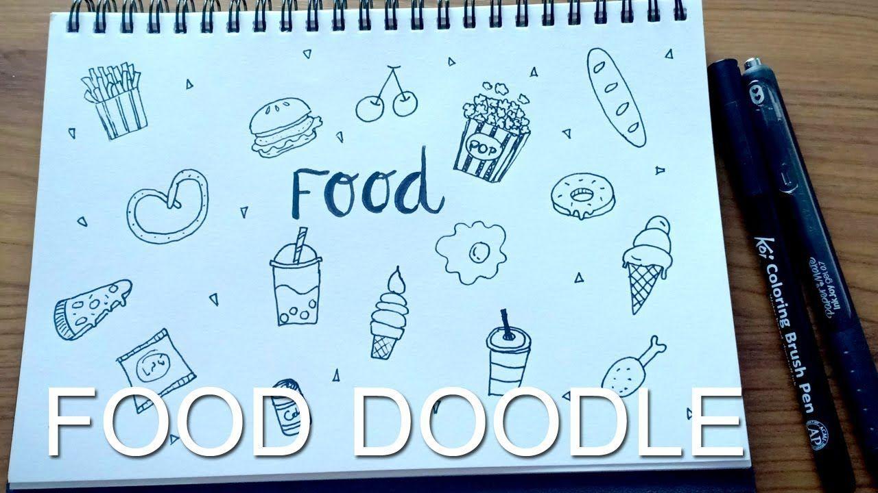 Food Doodle Cartoon สอนวาดการ ต นลายเส นง ายๆ น าร กๆ ไว ตกแต งไดอาร น าร ก