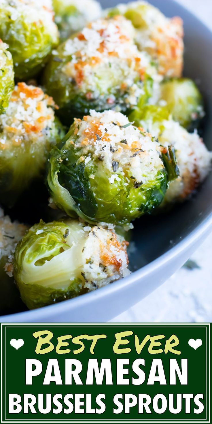 Smashed Brussels Sprouts with Parmesan Cheese