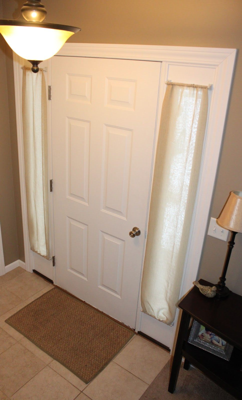 Charmant Front Door Curtains, How To, DIY (note: Magnetic Curtain Rods) (small Door  Crafts)