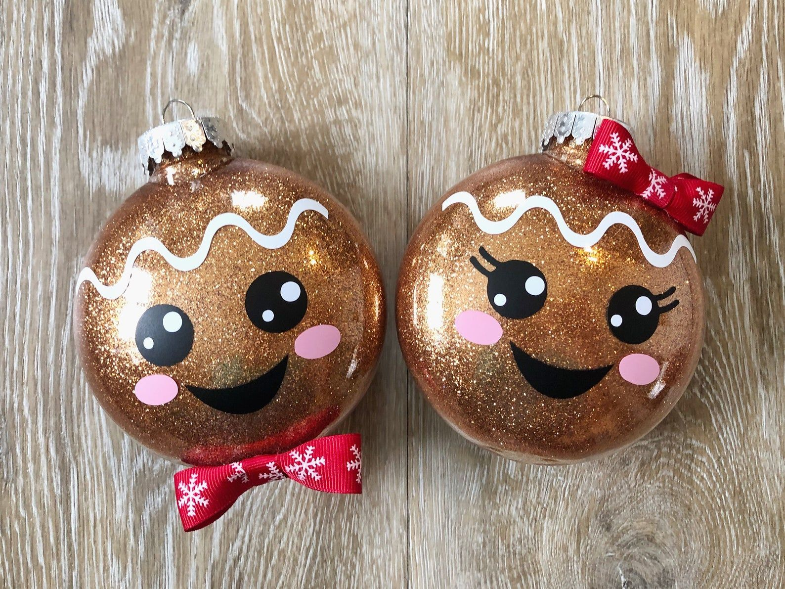 Gingerbread Boy And Girl Ornaments Christmas Crafts Kids Christmas Ornaments Christmas Ornaments Homemade