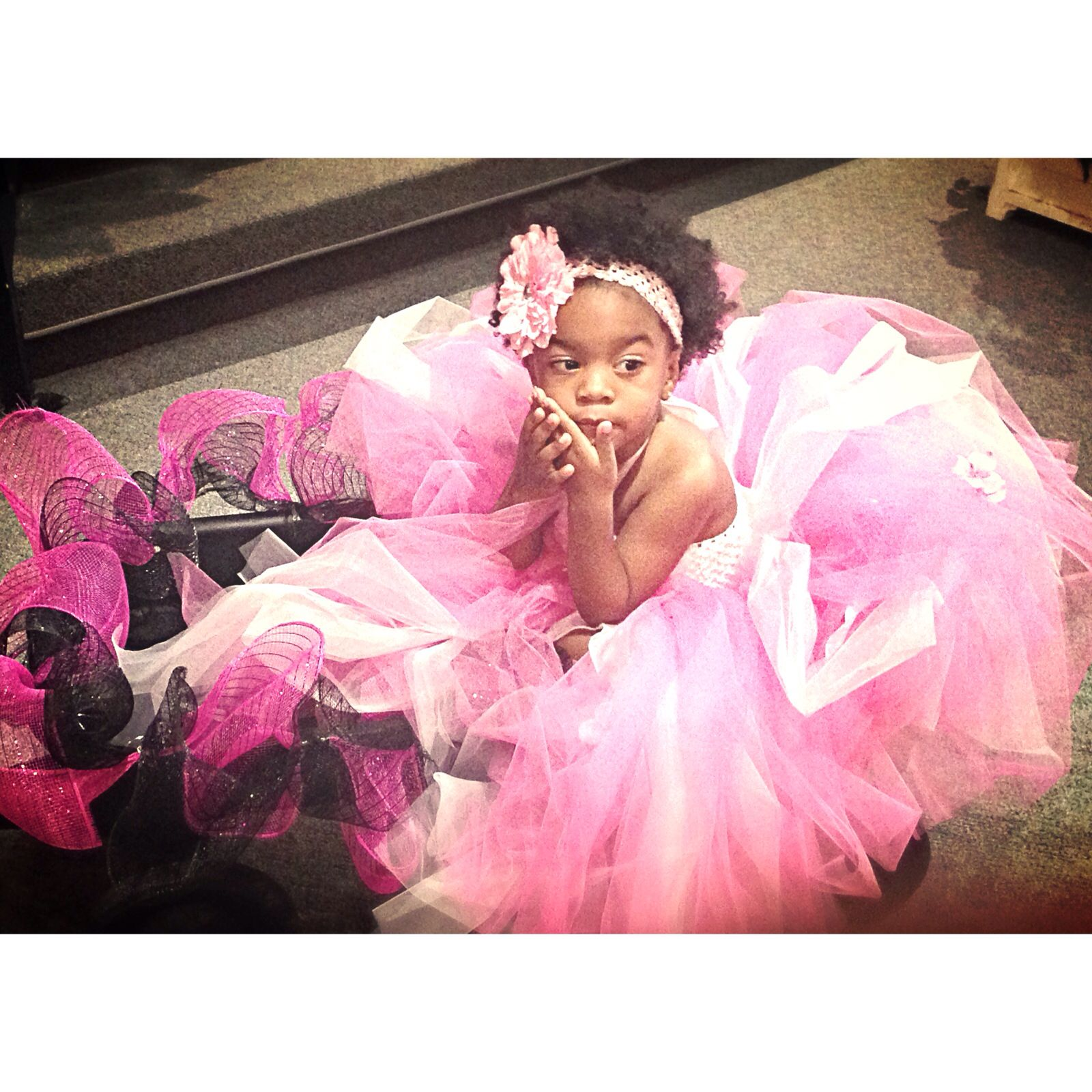 Pretty Little Flower Girl Riding In The Wagon Tutu For Days