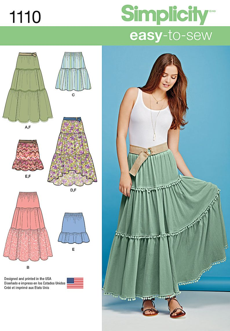 Easy-to-sew, easy-to-wear and perfect for summer! Misses skirt ...