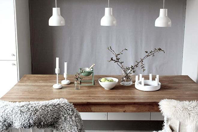 Enchanting Scandinavian Dining Room:remarkable Interior Great Dining Room  Design With Brown Wooden Dining Table Combine With White Chairs And Fur  Covers ...