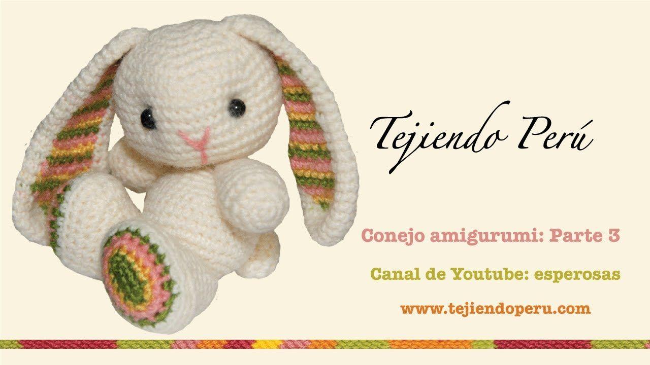 Conejo amigurumi (Parte 3: tejiendo las patitas) | dalls | Pinterest ...