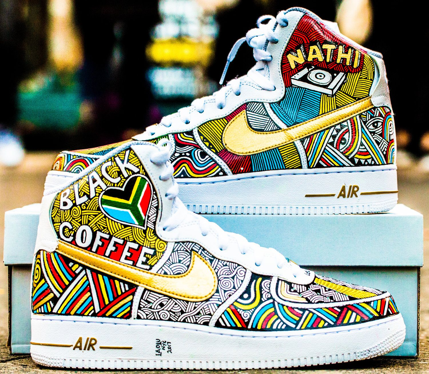 outlet store 05085 2158c Nike Air Force Ones Hand Painted by Laolu. Painted Sneakers, Custom ...