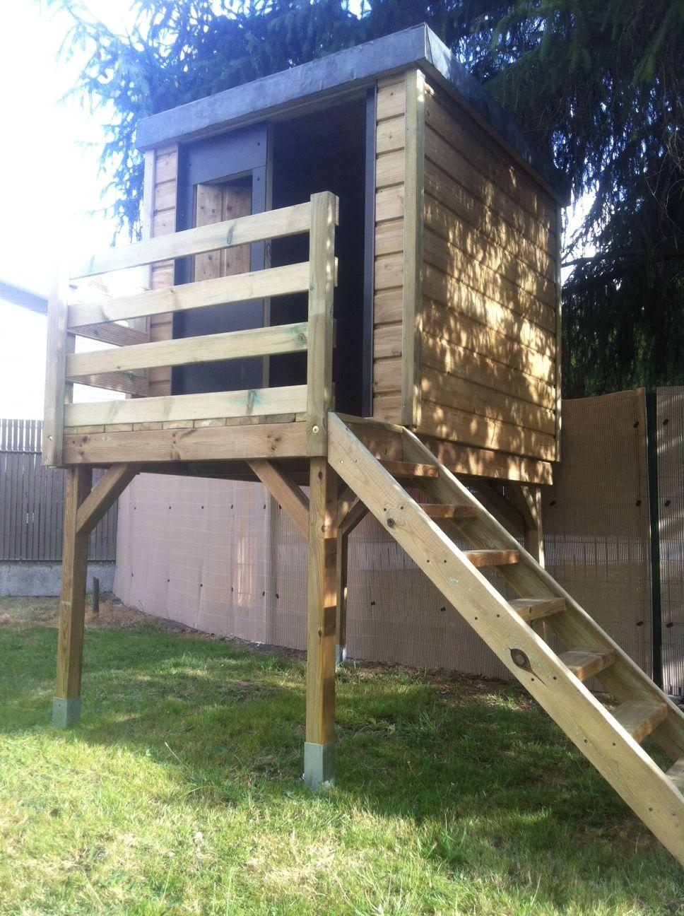Ikid Maisonnette D Enfants Cabane De Jardin Toit Plat Ikid ~ Cloture De  Jardin Design Plan Cabane De Jardin Enfant