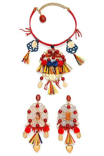 lindo baratas construcción racional atarse en DIY: pendientes sicilianos multicolor de Dolce & Gabbana ...