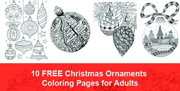 10 Free Christmas Ornaments Coloring Pages for Adults to download ...