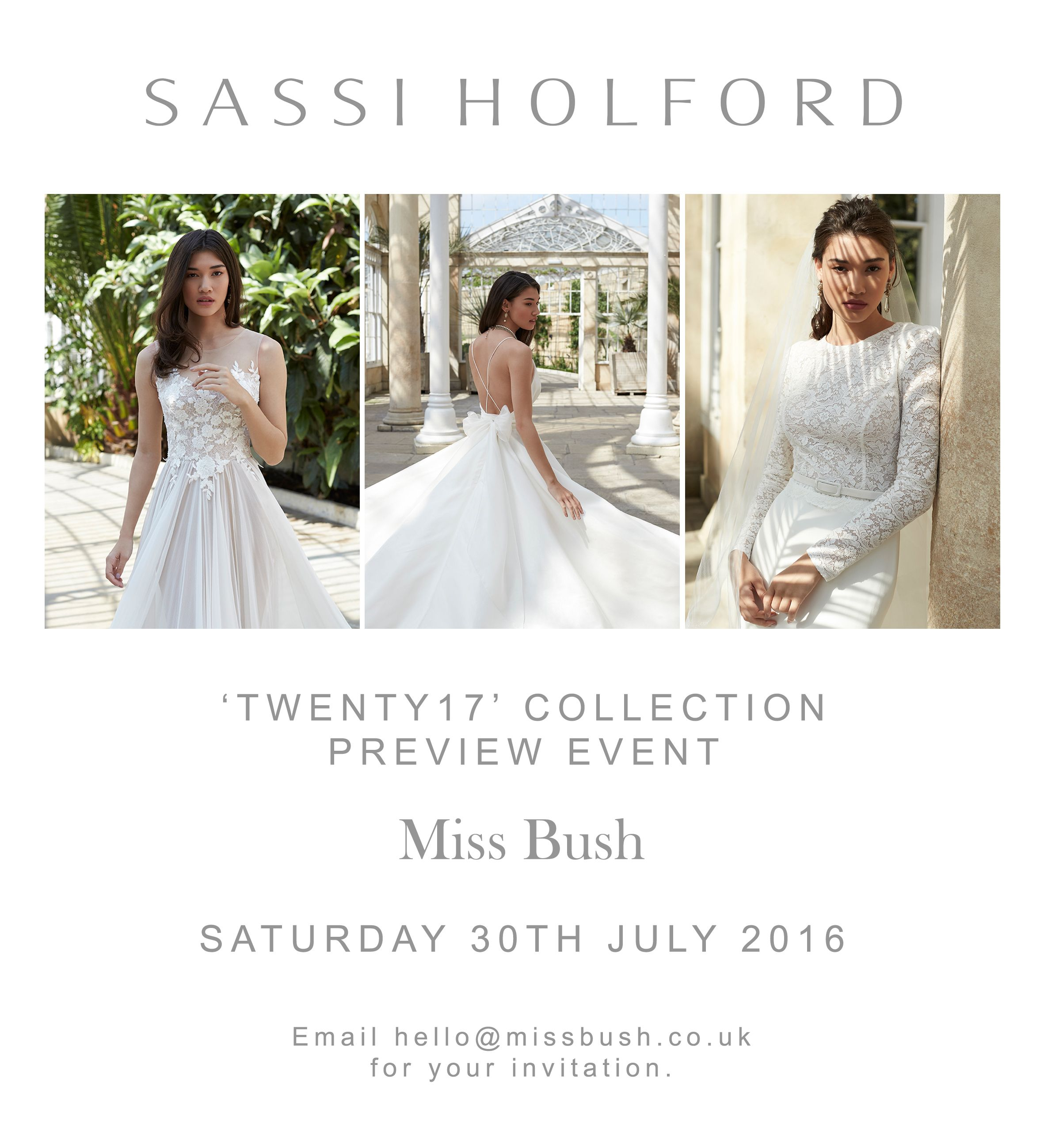 Details about our Sassi Holford Preview Event on 30th July ...
