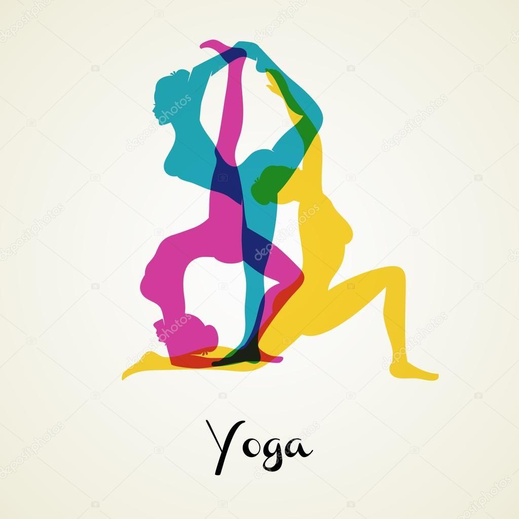 Descargar Silueta De Poses De Yoga Ilustración De Stock Ilustración De Yoga Yoga Dibujos Siluetas