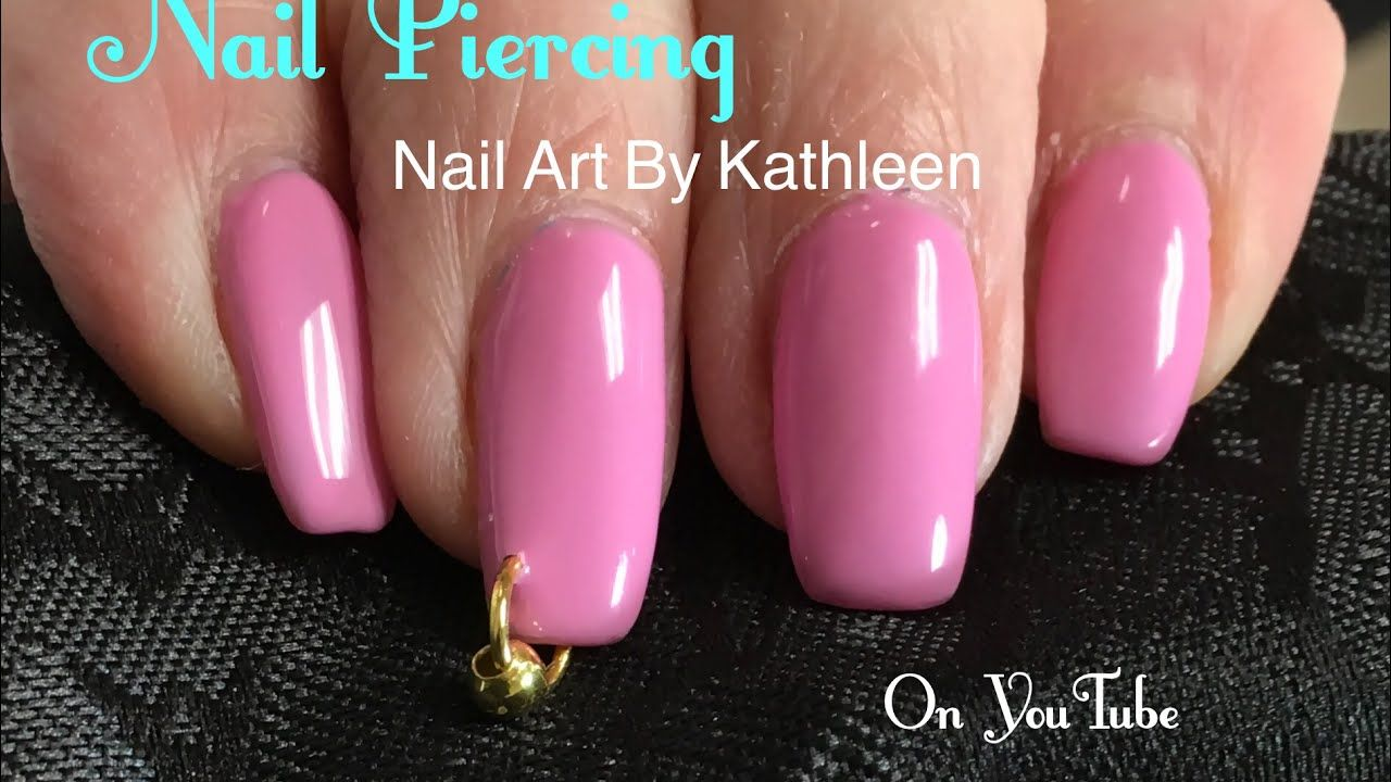 How To Pierce Your Nail - Born Pretty Nail Piercing Tool Demonstration - YouTube #nailpiercing