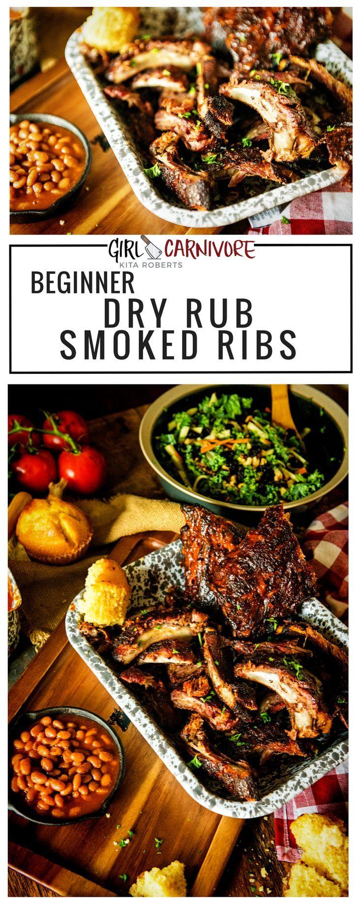 Beginner dry rub smoked ribs recipe rib recipes pork