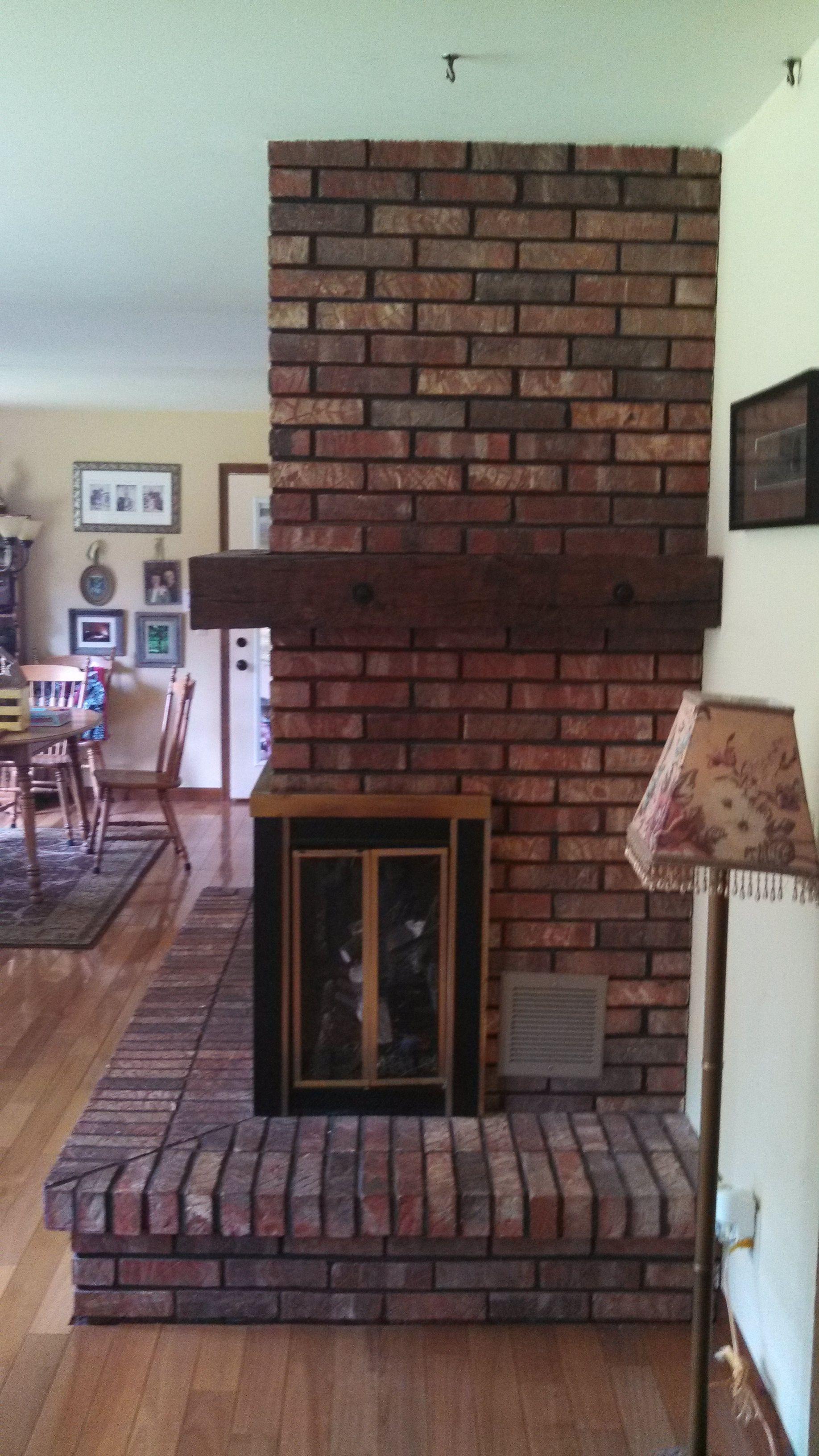 Before S Brick Fireplace