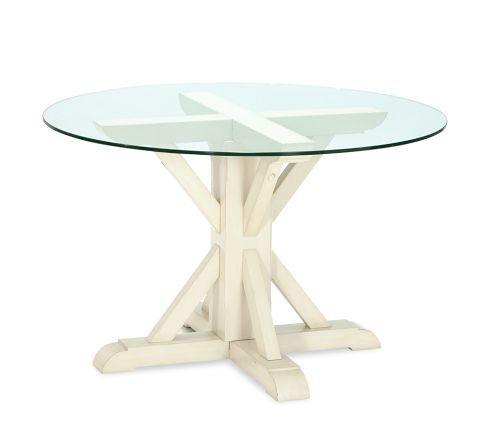 499 00 Ava Round Fixed Dining Table Pottery Barn 48 Dia 30 5ht