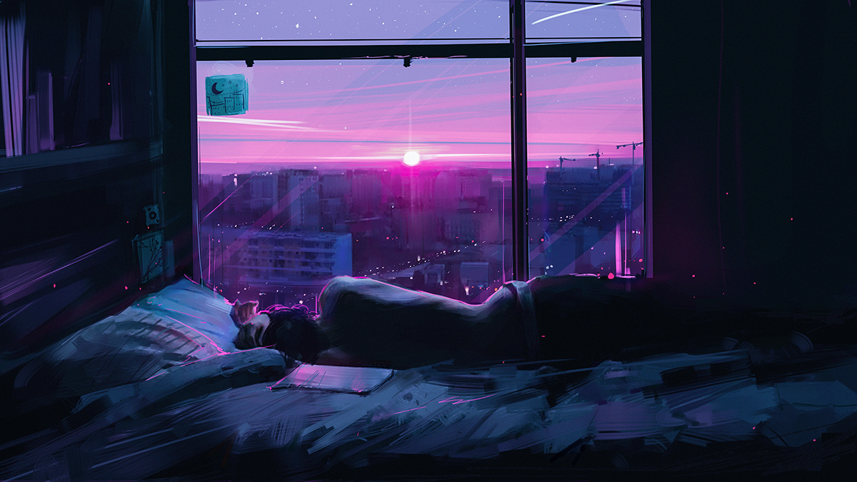 """Alone"" Digital illustration 1200x675 https//ift.tt"