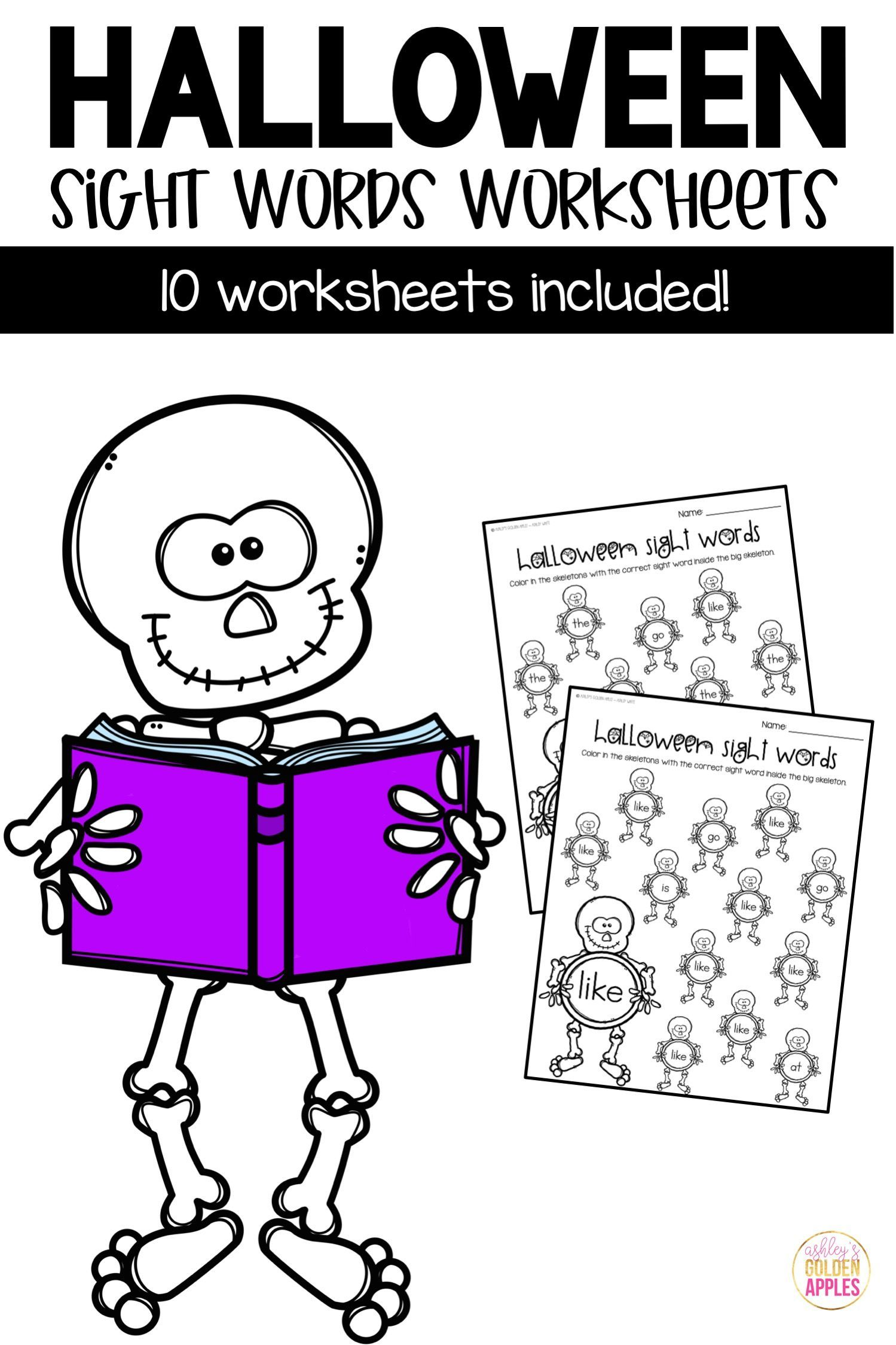 Sight Words Worksheets Halloween