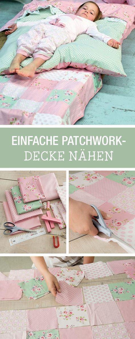 Photo of DIY Anleitung: Nähen Sie Ihre Lieblingsstoffe als Patchworkdecke, Wohnaccessoires …