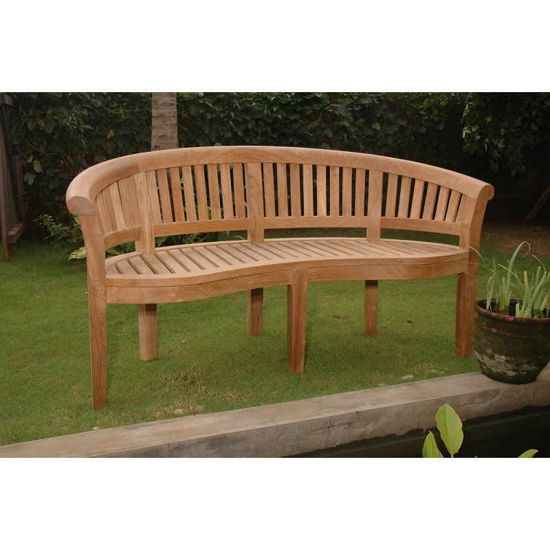Anderson Teak Curve 3 Seat 5 33 Ft Extra Thick Wood Outdoor Bench Bh 005ct Teak Garden Bench Curved Outdoor Benches