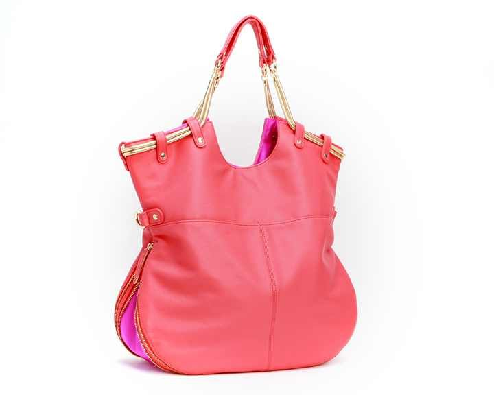 Deux Lux Biba Fold Messenger. Perf spring bag, much like F+C's city tote. Comes in a bunch of colors & it's convertible!