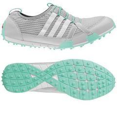 Mrs Golf - Ladies Golf Apparel, Shoes, Accessories - Adidas Climacool Ballerina Golf Shoe in Grey/Mint #mrsgolf