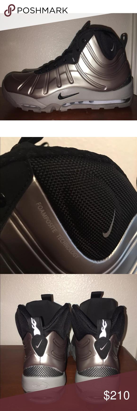 Nike Air Boot Pewter Posite New Brand Metallic Size 11 Bakin twwrdF