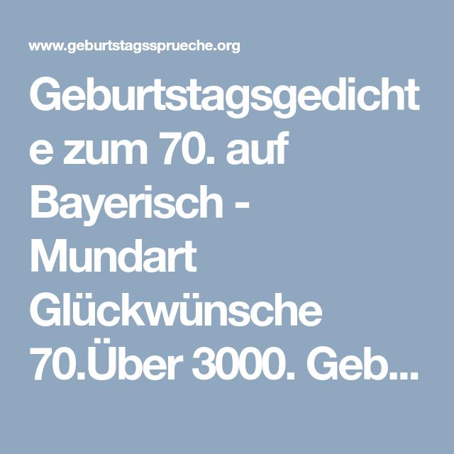Spruch zum geburtstag bayrisch
