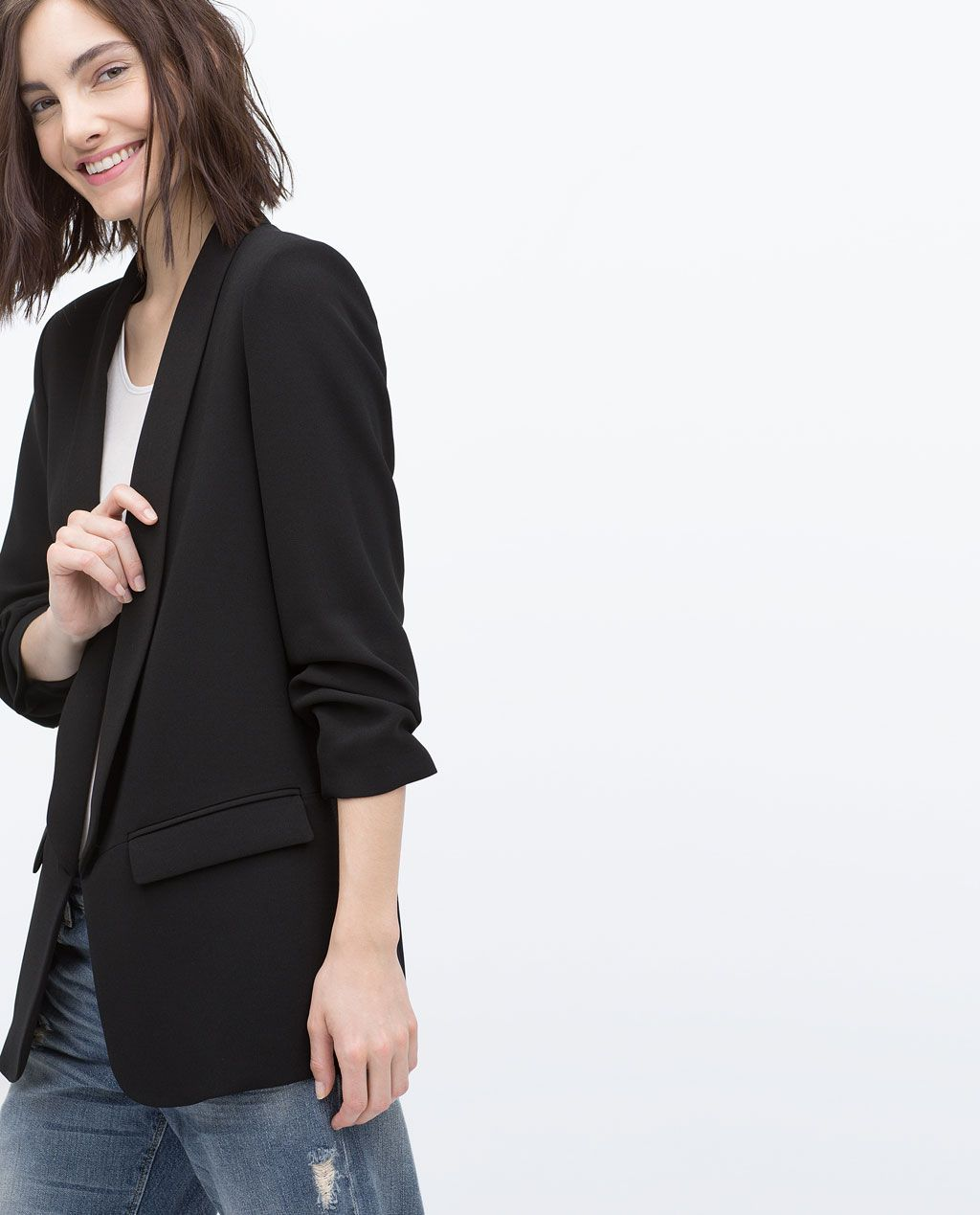 67f6a79227 CREPE BLAZER-Outerwear-WOMAN-COLLECTION AW15 | ZARA Finland | Mode ...