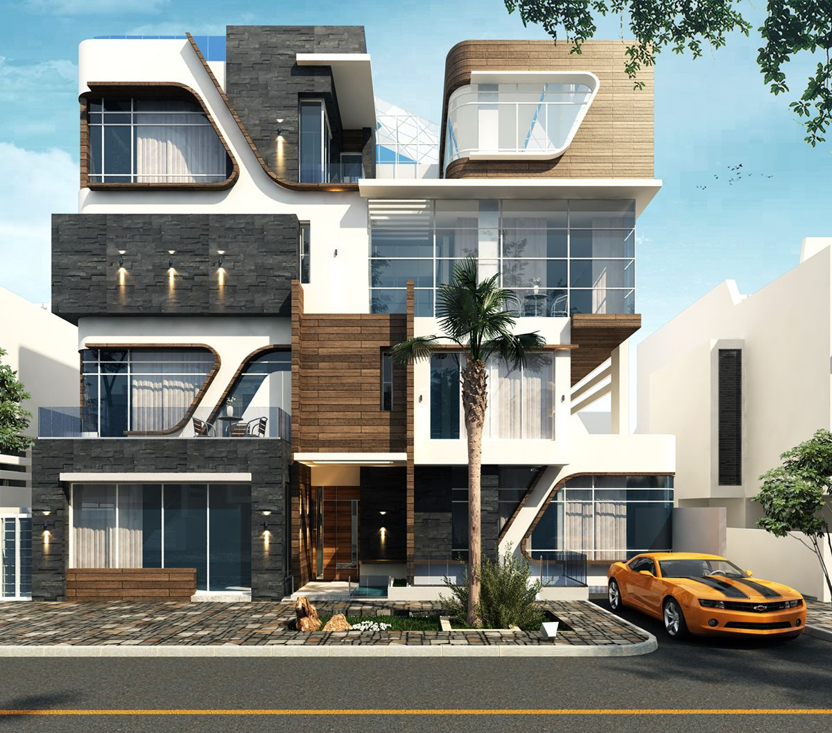 Exterior Home Design Software: Villa By Mo'men Gamal. Software: Vray, Autodesk 3ds Max