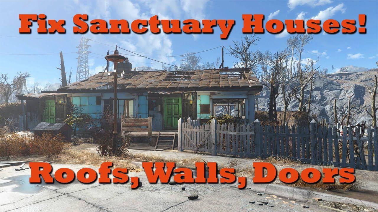 Fix Sanctuary Houses Add Roofs Walls Doors Fallout 4 Tips Tricks Fallout 4 Tips Sanctuary House Fallout 4 Secrets