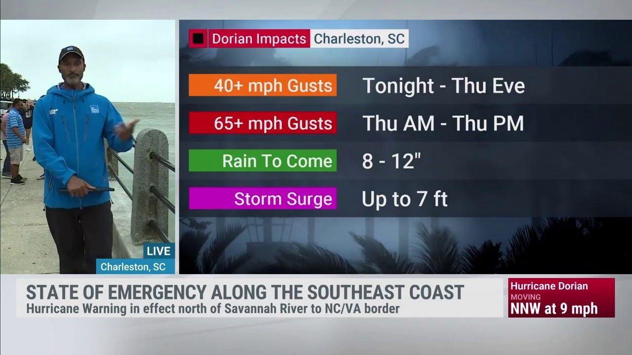 Weatherfan Live Stream Tracking Hurricane Dorian The Weather Channel The Weather Channel Storm Surge Hurricane