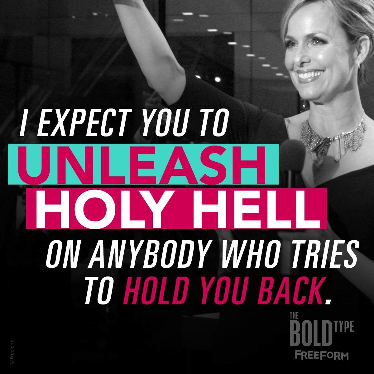 The Bold Type meme with Jacqueline Carlyle quote