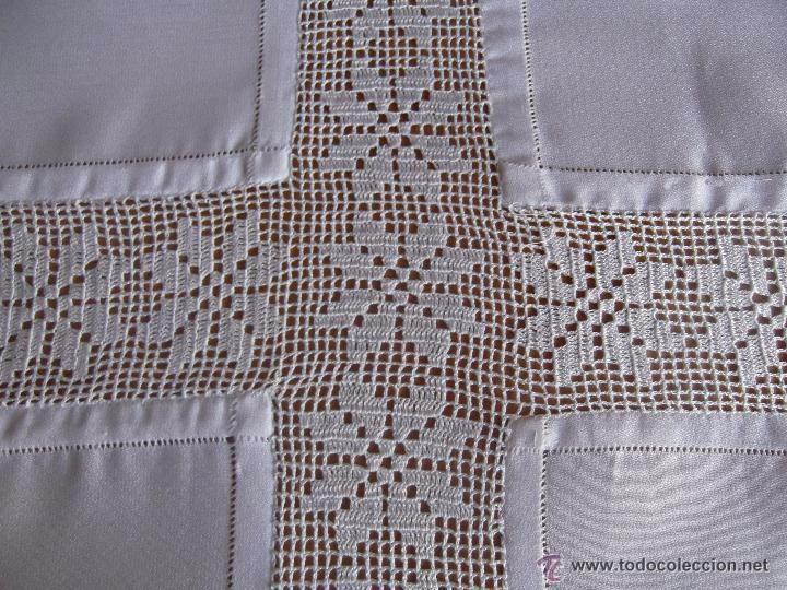 manteles crochet combinados tela buscar con google On manteles de ganchillo y tela
