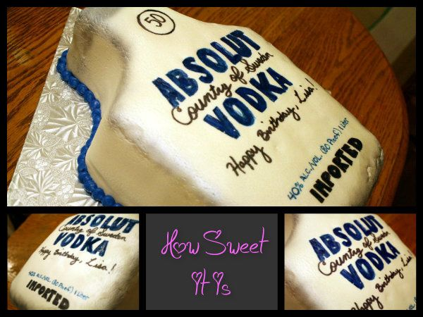 Incredible 50Th Birthday Absolut Vodka Cake By How Sweet It Is Ny Absolut Birthday Cards Printable Trancafe Filternl