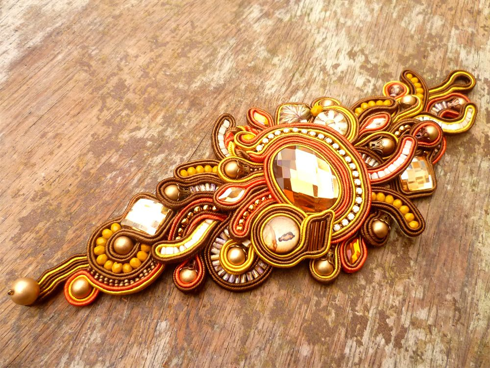 Soutache work by Csilla Papp