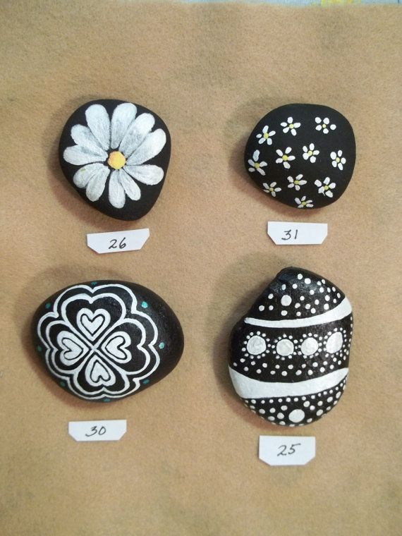 The Black White Rock Collection Rock Painting Supplies Rock Collection Painted Rocks Kids
