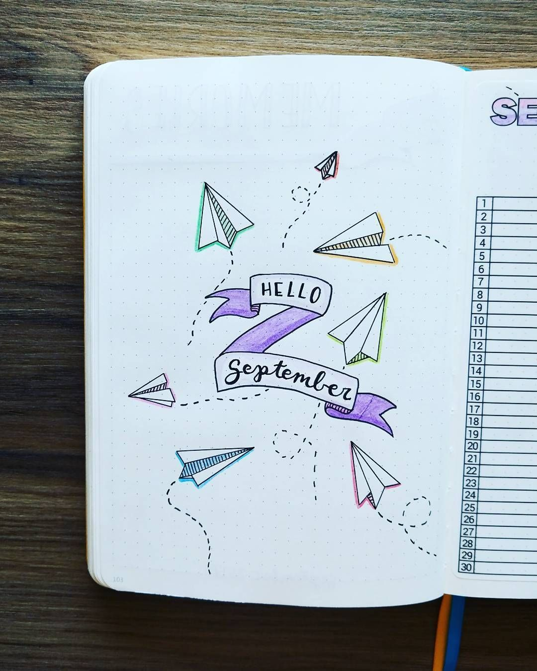 329 vind-ik-leuks, 8 reacties - Micah (@my_blue_sky_design) op Instagram: 'September 2017 - Welcome Page Hello September indeed! August was killer, and there were some…' #septemberbulletjournalcover