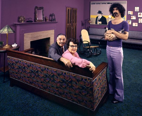 <> Frank Zappa with his Parents, 1970 | LIFE With Rock Stars … and Their Parents | LIFE.com