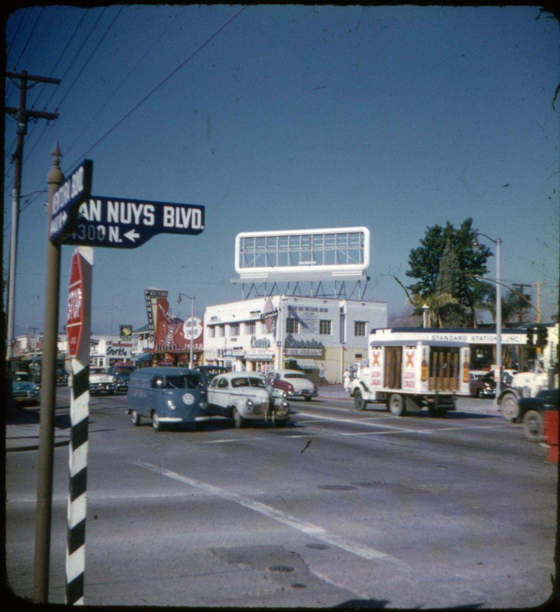 View from the S/E corner of Van Nuys & Ventura in 1950s
