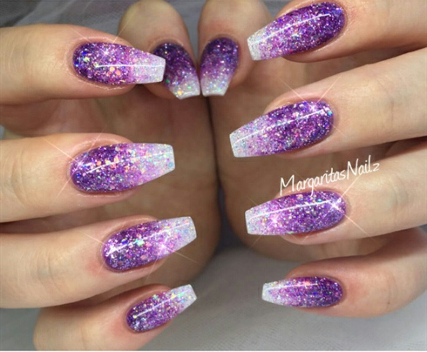 Pin By Sandy Snyder On Nails Purple Glitter Nails Purple Nail Art Designs Purple Nail Art