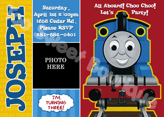 Cool Thomas the Train Birthday Invitations Ideas FREE Printable